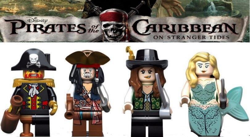 Pirates of The Caribbean Figures kids corner productions Jack Sparrow Building Blocks Sets Kids toy Bricks gifts