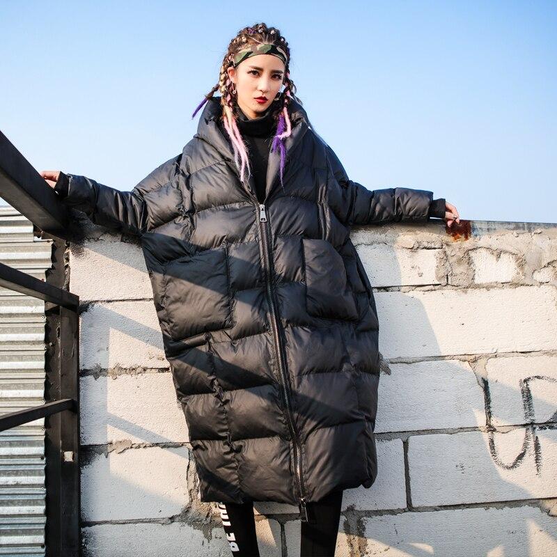 2018 Photo Capuche Color Chaud Mode Coton À D'hiver Femelle Femmes Manteaux Coton Veste Parkas Personnalité Long Manteau Lâche rembourré f7Yb6gyIv
