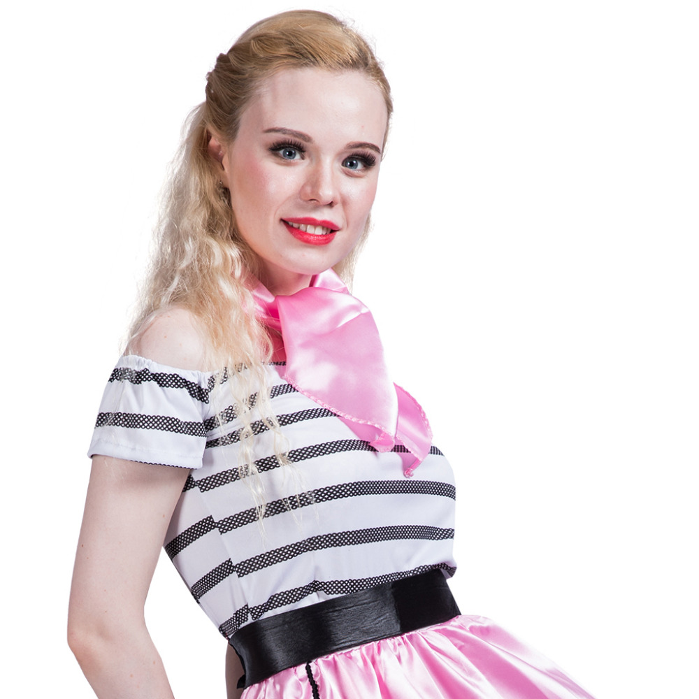 80s Women Sexy Pink Poodle Skirt Girl Costume Dress Striped Cosplay Party Dance Dress Outfit for Adult Lady Halloween Costumes-in Holidays Costumes from ...  sc 1 st  AliExpress.com & 80s Women Sexy Pink Poodle Skirt Girl Costume Dress Striped Cosplay ...