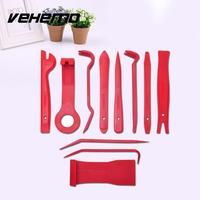VEHEMO 11pcs Professional Vehicle Car Audio Interior Wedge Installer Dashboard Removal Pry Kit Trim Clip Plastic