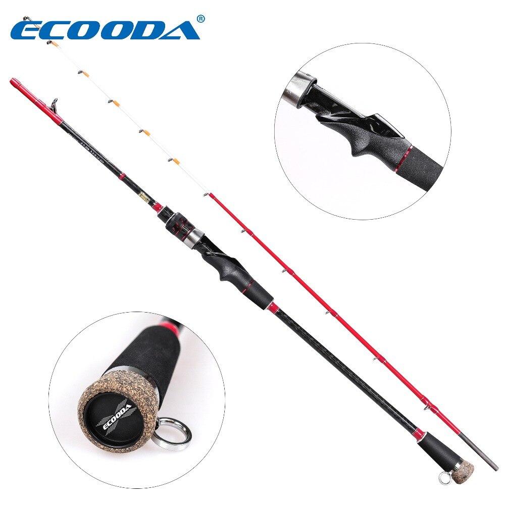 Ecooda Sea Sniper 1.35m Fishing Rod Drag Power 6kg Raft Fishing Rod 2 Sections Casting Rod 65% Carbon Rod