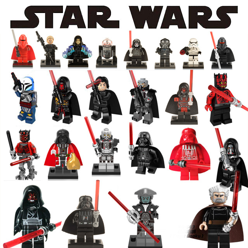 For Playmobil Star Wars figures starwars Building Blocks Sith Lord Darth Vader Maul Revan Dooku Sidious bricks toys for children