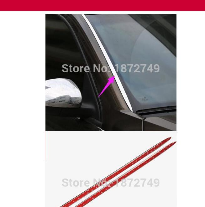 for Volkswagen TIGUAN Automobile(2/p)Special stainless steel decorative sequins affixed before the file car stickers automobile 1 p stalls sequins decorative stickers car accessoires for mazda cx 5