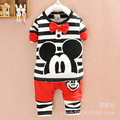 New spring/autumn/winter Children's Clothing sets for boys/girls Mickey pure cotton long-sleeve Hoodie+pant kids clothes