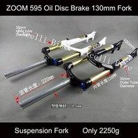 ZOOM Locking Suspension Spring Fork Moutain Bike 26 Fork 100mm Stroke Bicicletas Suspension Forks only 2250g Bicicletas Fork