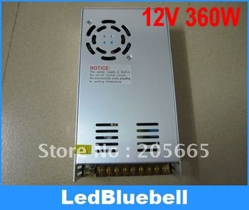 4pcs/lot LED power supply 12V 30A 360W LED Lighting transformer for led strip With Fan automatically work