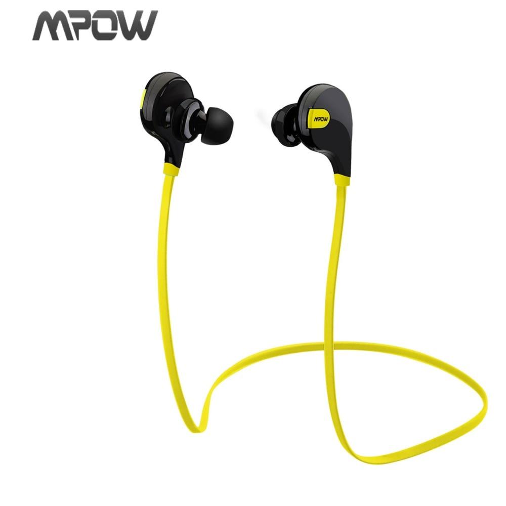 Mpow Swift MBH5 Handsfree Bluetooth 4.0 Earphone Wireless Stereo Sport Headphones Mic Earbuds AptX for iPhone 6 Samsung Xiaomi