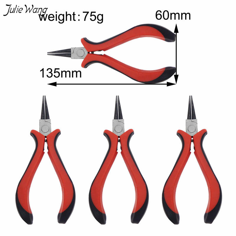Julie Wang 1pc Jewelry Making Plier Alloy For Earring Necklace Bracelet DIY Tools Jewelry Handmade Crafts DIY Tool
