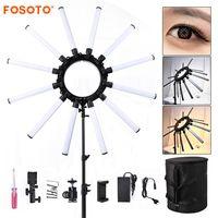 Fosoto TL 1800 Фотографическая освещение затемнения 3200 5600 К 12 трубы 672 светодиоды Камера фотостудия телефон фотографии кольцо света лампа