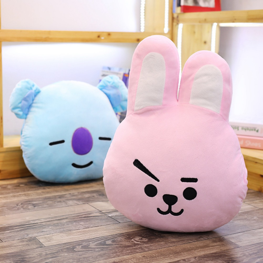 1pc 38*40cm Bangtan Boys Bts Bt21 3 In 1 Plush Toy Cartoon Hand Warmer Tata Van Cooky Chimmy Pillow With Blanket Dolls Gifts Beautiful And Charming Toys & Hobbies Movies & Tv