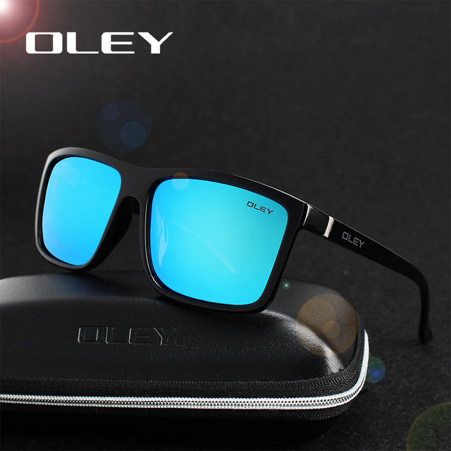 OLEY Polarized Men Sunglasses brand designer Retro Square Sun Glasses Accessories Unisex driving goggles oculos de sol Y6625