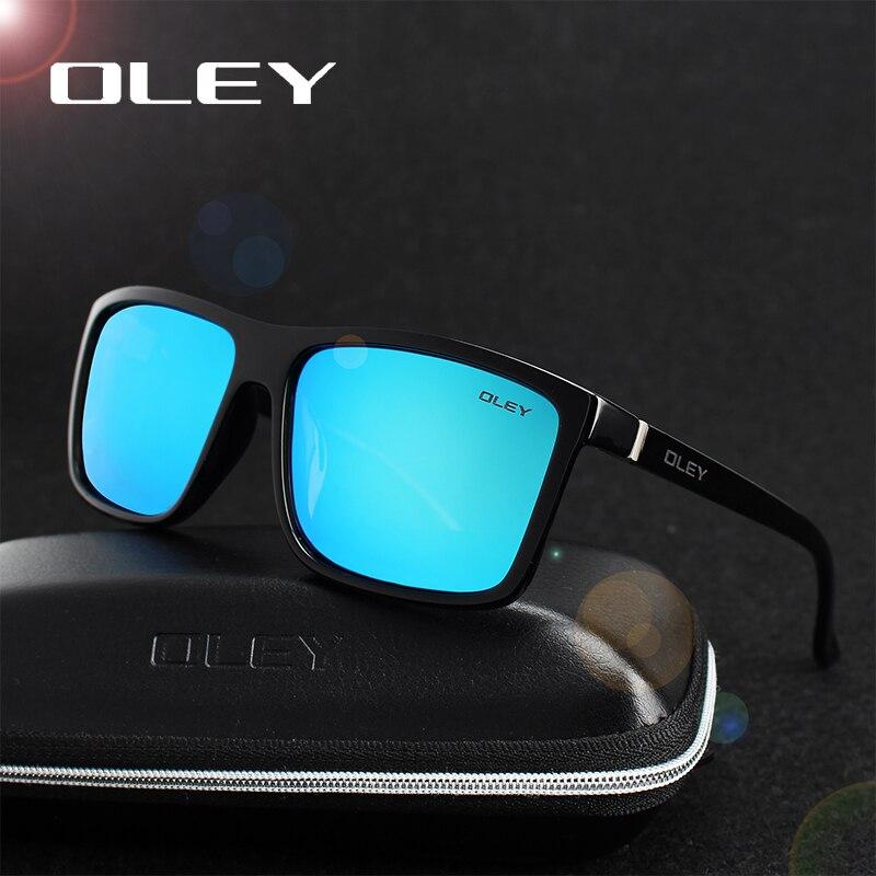OLEY polarizadas HD hombres marca diseñador gafas cuadradas estilo Retro gafas de sol accesorios Unisex gafas de sol de Y6625