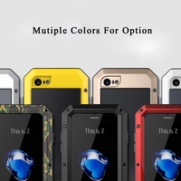 For IPhone 7 Metal Zinc Alloy Silicone Protective Water Dirt Shock Proof Luxury Doom Armor Life