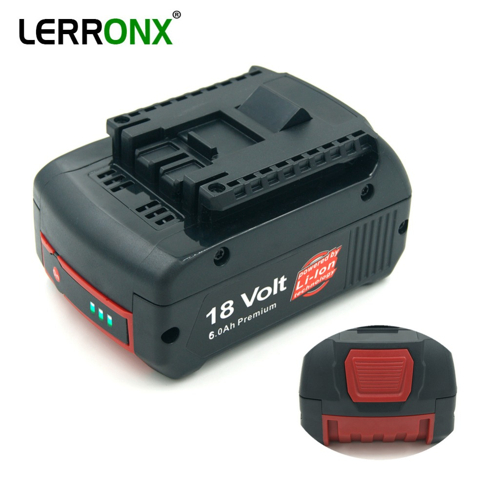 <font><b>18V</b></font> 6000mAh Lithium Rechargeable <font><b>Battery</b></font> for <font><b>Bosch</b></font> Cordless Power Tools <font><b>Battery</b></font> BAT609 BAT610G BAT618 BAT620 BAT622 GSR18V-LI image