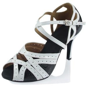 Dancing Shoes for Women Zapatos De Baile Latino Salsa Ladies Orange,White,Purple Ballroom Dance(China)