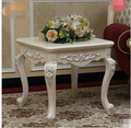 Small square table. French rural small tea table. Wooden sofa table side. Coffee table