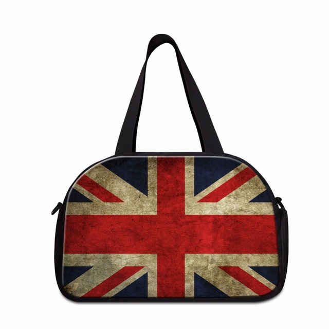 Dispalang Creative Design Union Jack Uk Us Flag Travel Duffle Bag Men Handbags Portable Organizer