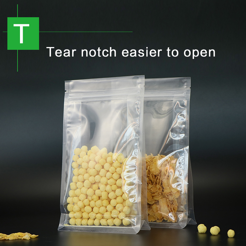blocco fondo stand up sacchetto con cerniera in plastica trasparente - Organizzazione e deposito in casa - Fotografia 3