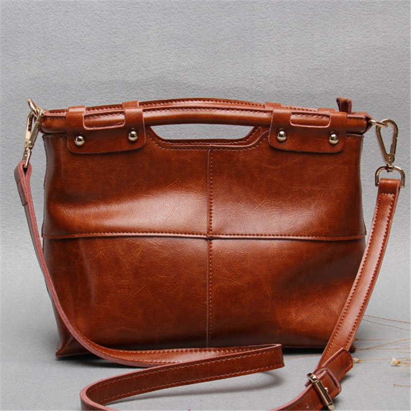 New Real Genuine Leather Bags Designer Brand Handbags High Quality Large Shopping Tote Bags Ladies Shoulder