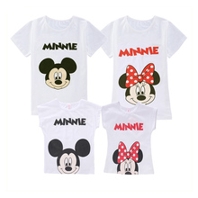 Family Look Matching Mini Me Mickey T-shirts Pants Skirt Little Boys Girls Mother Father Daughter Clothes Mother Son Outfits Set