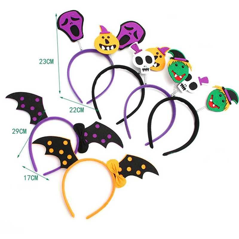 1 Pcs Halloween Rambut Hoop Headband Acara Halloween Pesta Dekorasi Rambut Band Pesta Headband untuk Anak-anak Labu Hantu Tengkorak