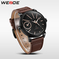 Men's Quazrt Business Watch Leather Strap Clock Waterproof Quazrt-Watches Superior De Lujo Erkek Kol Saati Relojes Hombre WEIDE