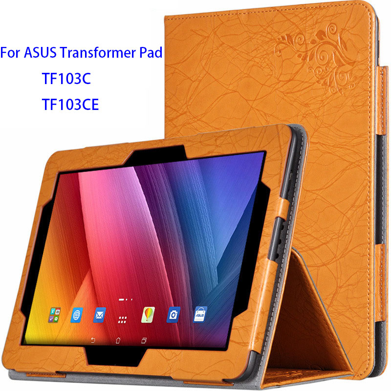 TF103C Case for ASUS Transformer Pad Cover Case for ASUS Transformer Pad TF103C TF103CE 10.1inch Tablet Case+PET Film+Styplus 10 1 inch tablet for asus transformer pad tf103c tf103 lcd screen display free shipping