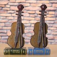 Modern Style Music Violin Model Figurines Articles Artist Resin Craft Home Decoration Miniature Handwork Craft Christmas