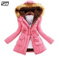 Fitaylor зимняя куртка больших размеров женская теплая парка с капюшоном Mujer Толстая хлопковая черная стеганая куртка Женские Длинные куртки с...