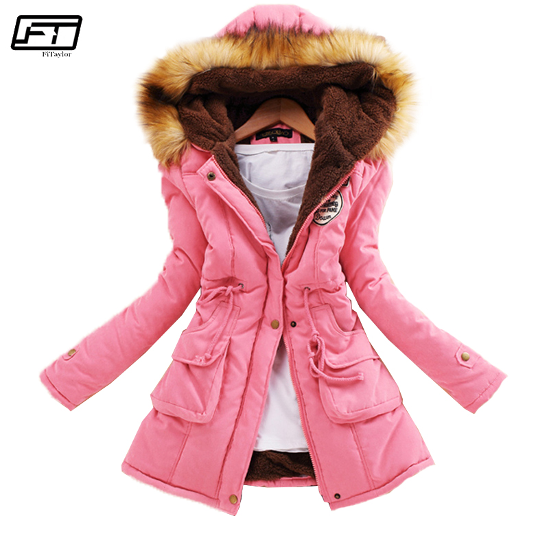 Fitaylor Winter Plus Size Jacket Women Warm Hooded Parka Mujer Thick Cotton Black Padded Coat Female Long Paragraph Jackets
