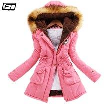 Fitaylor зима плюс размеры куртка для женщин теплая парка с капюшоном Mujer толстый хлопок черный Стеганое пальто женский длинный куртки со строчкой