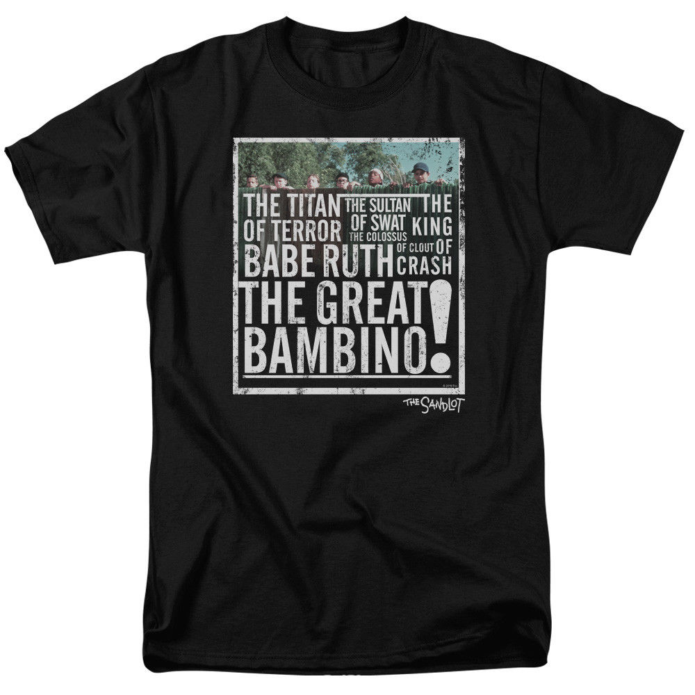 The Sandlot Movie THE GREAT BAMBINO Licensed Adult T-Shirt All Sizes