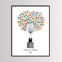 Вечерние 40*60 см мульти размер свадебное дерево с отпечатками пальцев живопись Подпись Гостевая книга пара Поцелуй холст живопись с чернильной подложкой