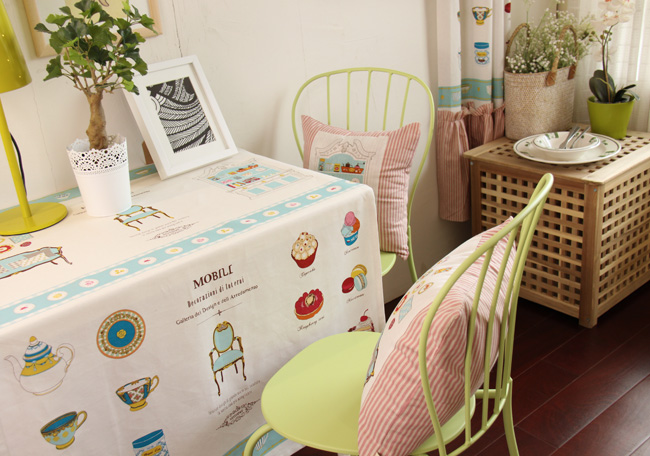 Cotton Linen Cartoon Tablecloth <font><b>Bohemian</b></font> Rustic <font><b>Home</b></font> <font><b>Decor</b></font> High-Quality Toalha De Mesa Hotsale