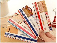 Freeshipping! NEW vintage travel London & Paris animals sticky notepad / Memo message post marker Removable adhesive paper