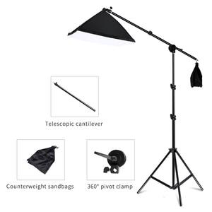 Image 2 - プロの写真照明機器キットとブームアームとソフト背景スタンド背景写真スタジオ
