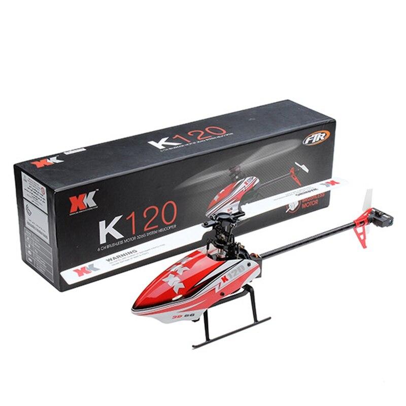 XK K120 Navette 6CH Brushless 3D6G Système RC Hélicoptère BNF pour Enfants Enfants À Distance De Contrôle Drôle Jouets Cadeau En Plein Air Avions