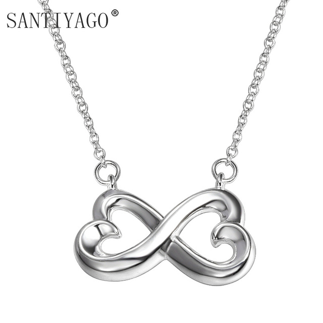 Charm Fashion Infinity Pendant Necklaces Collares For Women Clavicle Necklace Wedding Colar Jewelry Necklace & Pendant