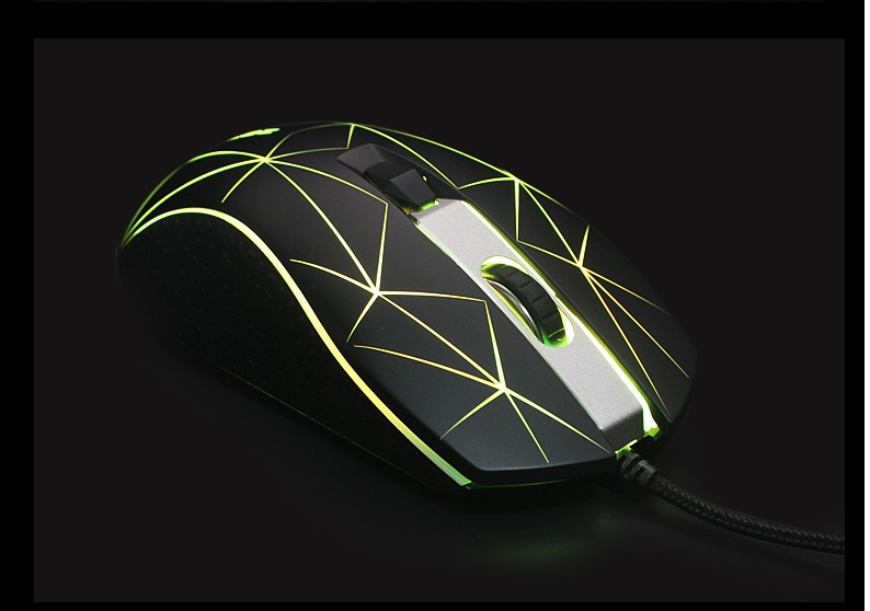 USB LED Luzes Do Mouse Gamer 2800 DPI Para PC Laptop Desktop