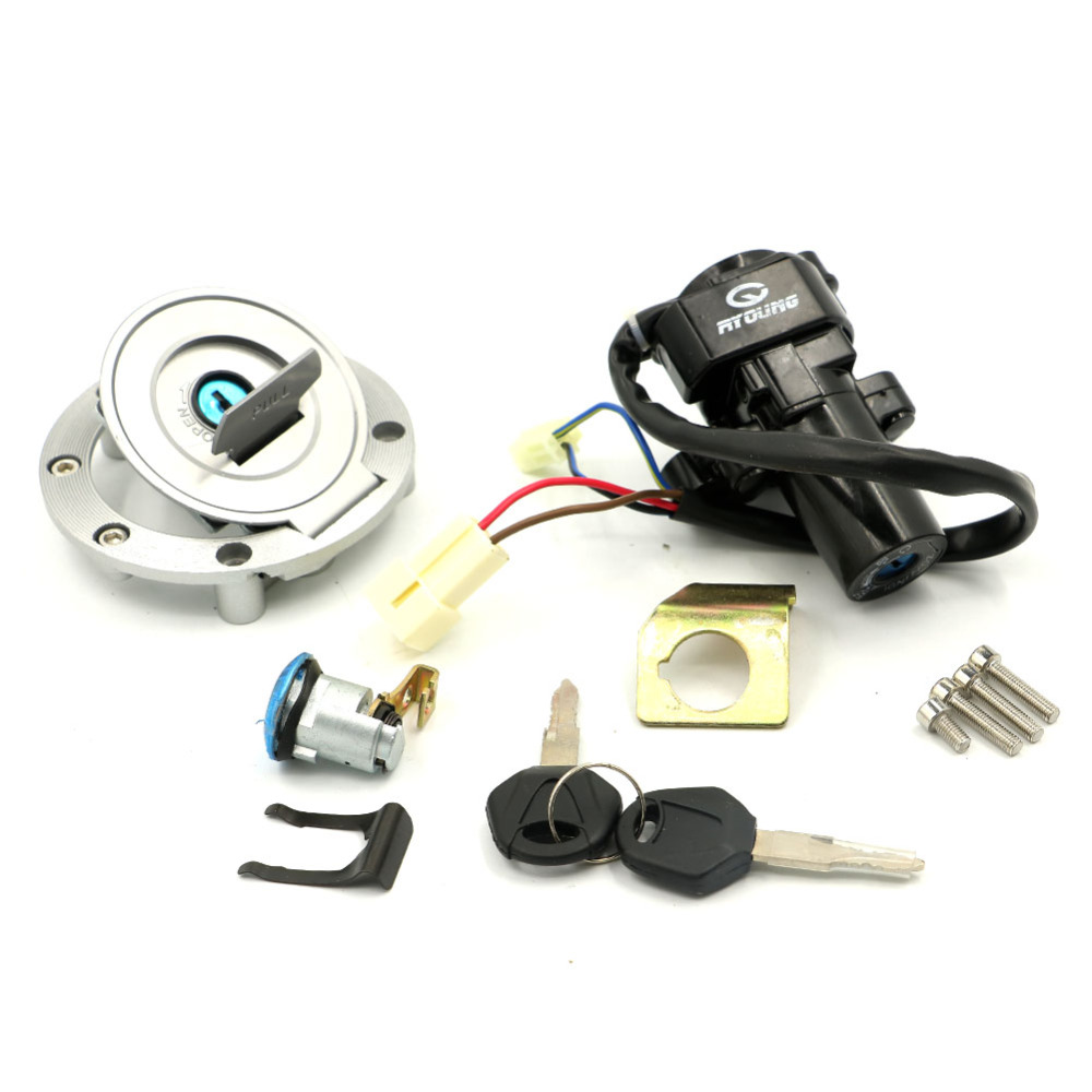 Ignition Switch Seat Gas Fuel Tank Cap Lock Keys For YAMAHA FJR1300 2001-2010 2002 2003 2004 2005 2006 2007 2008 2009 цена 2016