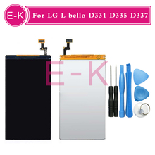Original For LG L bello D331 D335 D337 LCD display Screen Replacement + Tools Free shipping