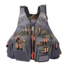 Mutil-Pocket Adjustable Fishing Vest Mesh Fly Fishing Vest Outdoor Sport Life Safety Jacket Swimming Sail New Vest