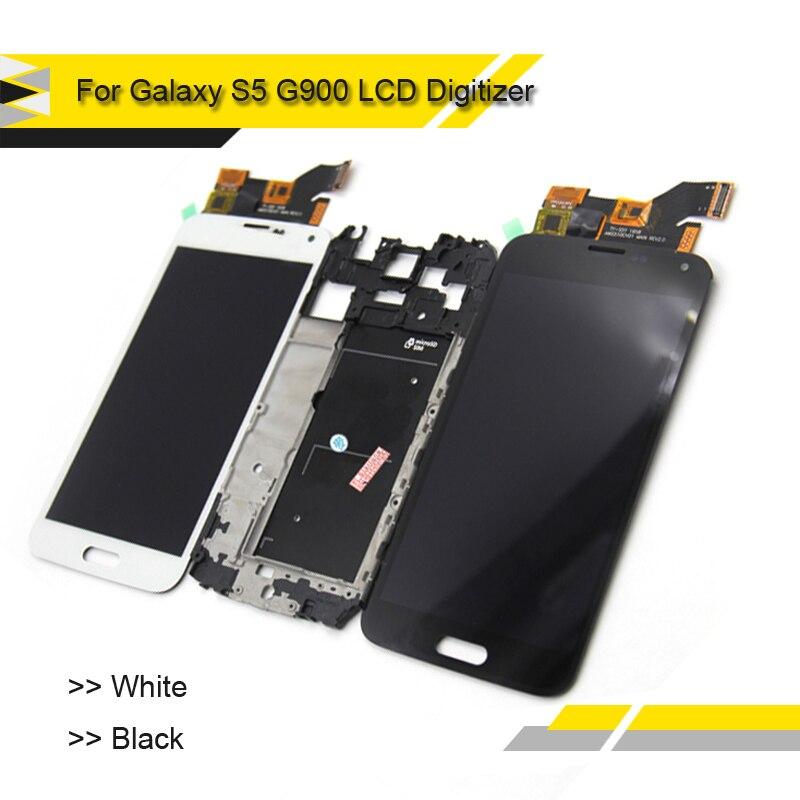 imágenes para Compatible Para Samsung Galaxy S5 G900 G900F Pantalla LCD Táctil Digitalizador Assmebly Pantalla SM-G900 G900F LCD Panel Completo
