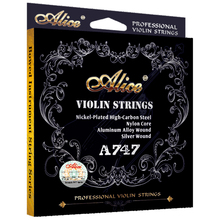 1 Set Original Alice High Quality Professional Violin Strings Nickel-Plated High-Carbon Steel Alumimum Alloy Wound A747