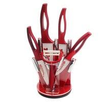 XYJ Brand Kitchen Knife Gift Set 6 5 4 3 Inch Flower Pattern Blade Ceramic Knife