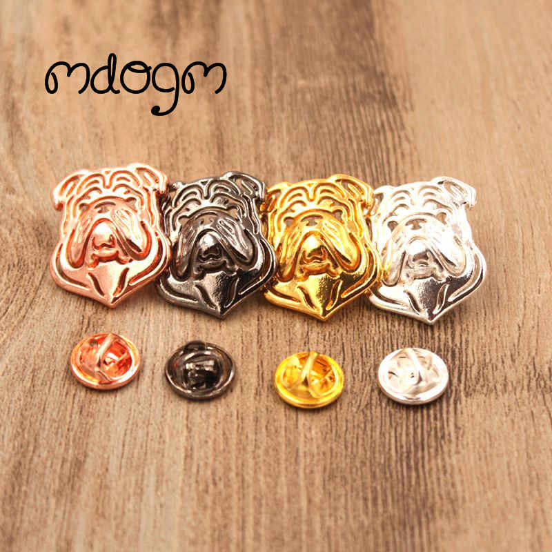 Mdogm 2019 English Bulldog Brooches And Pins  Suit Cute Funny Metal Small Collar Badges Gift For Male Men B018