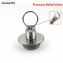 304 Stainless Steel 2L/3.6L/5L Homebrew Mini Beer Growler Keg Lid With Pressure Relief Valve цена