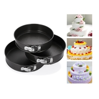 3pcs Set Cake Bake Mold DIY Spring Form Pans With Removable Bottom Round Shape Bakery Cooking