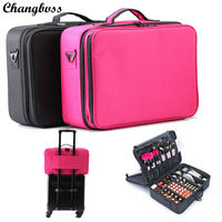 Travel Beauticians Professional Cosmetic Makeup Bag Large Capacity Beauty Organizer Women Portable Makeup Storage Box Neceser