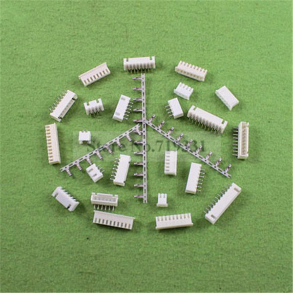 50Sets, Micro JST 2.5 XH 2/3/4/5/6/7/8/9/10-Pin Connector plug Male ,Female, Crimps jst xh2 54 2 3 4 5 6 78 9 10 pin connector plug male female crimps x 50sets